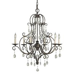 Murray Feiss F1902/6MBZ 6- Light Chandelier
