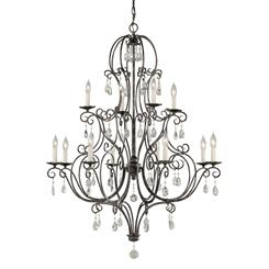 Murray Feiss F1938/8+4MBZ 12- Light Multi-Tier Chandelier