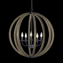 Murray Feiss F2936/5WOW/AF 5 - Light Large Pendant