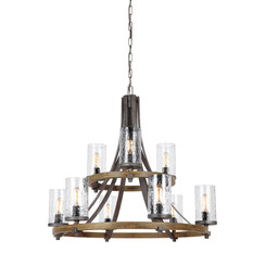 Murray Feiss F3135/9DWK/SGM 9 Light Chandelier Angelo Collection