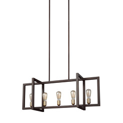 Murray Feiss F3147/5NWB Finnegan Collection 5 - Light Island Chandelier
