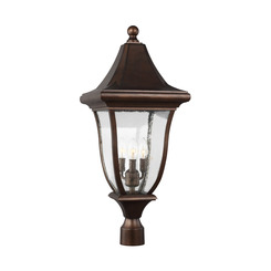 Murray Feiss OL13107PTBZ 3 - Light Outdoor Post Lantern