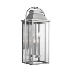 Murray Feiss OL13202PBS Wellsworth 4 - Light Outdoor Wall Lantern Painted Brushed Steel