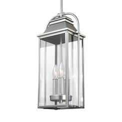 Murray Feiss OL13209PBS Wellsworth 3 - Light Outdoor Pendant Lantern Painted Brushed Steel