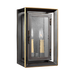 Murray Feiss OL13801ANBZ/PBB 2 - Light Outdoor Wall Lantern