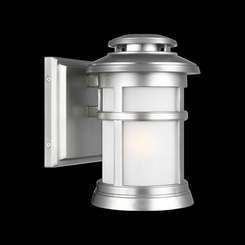Murray Feiss OL14300PBS Newport Collection 1 Light Painted Brushed Steel Outdoor Wall Lantern