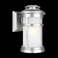 Murray Feiss OL14301PBS Newport Collection 1 Light Painted Brushed Steel Outdoor Wall Lantern