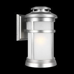 Murray Feiss OL14302PBS Newport Collection 1 Light Painted Brushed Steel Outdoor Wall Lantern