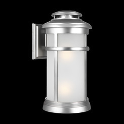 Murray Feiss OL14303PBS Newport Collection 2 Light Painted Brushed Steel Outdoor Wall Lantern