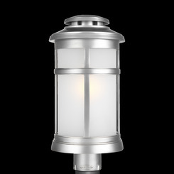 Murray Feiss OL14307PBS Newport Collection 1 Light Painted Brushed Steel Outdoor Post Lantern