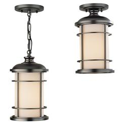 Murray Feiss OL2209BB Lighthouse 1-Light Lantern Pendant Lighting, Burnished Bronze
