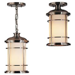 Murray Feiss OL2209BS Lighthouse 1-Light Lantern Pendant Lighting, Brushed Steel