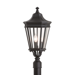 Murray Feiss OL5407BK Cotswold Lane 3-Light Pier Mount Post Lantern Lighting, Black