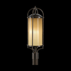 Murray Feiss OL7607HTBZ Dakota 3-Light Pier Mount Post Lantern Lighting, Heritage Bronze