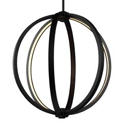 "Murray Feiss P1392ORB 20"" LED Globe Pendant"