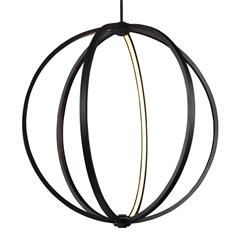 "Murray Feiss P1393ORB 30"" LED Globe Pendant"