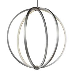 "Murray Feiss P1393SN 30"" LED Globe Pendant"