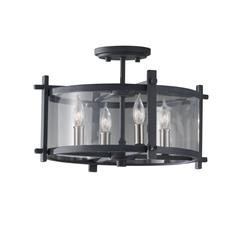 Murray Feiss SF292AF/BS 4- Light Indoor Semi-Flush Mount