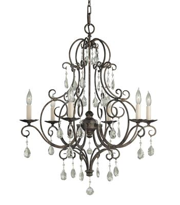 Murray Feiss F1902/6MBZ Chateau Small Mocha Bronze Chandelier