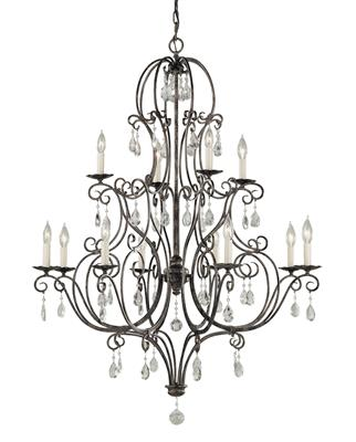 Murray Feiss F1938/8+4MBZ Chate 12 Light Multi-Tier Chandelier - Mocha Bronze