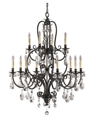 Murray Feiss F2229/8+4ATS Salon Maison 12- Light Multi-Tier Chandelier - Aged Tortoise Shell