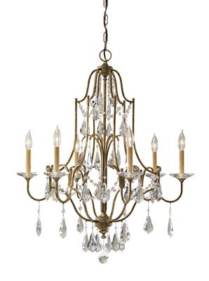 Murray Feiss F2478/6OBZ Valentina Oxidized Bronze 6- Light Single Tier Chandelier