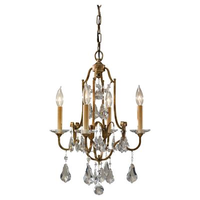 Murray Feiss F2480/4OBZ Valentina Oxidized Bronze 4- Light Single Tier Chandelier