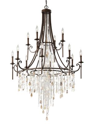 Murray Feiss F2661/8+4HTBZ 12- Light Multi-Tier Chandelier