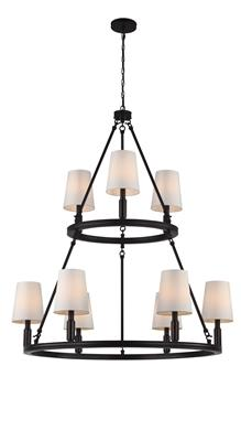 Murray Feiss F2937/3+6ORB 9 - Light Lismore Chandelier
