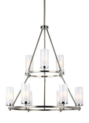 Murray Feiss F2987/9SN/CH 9 - Light Two Tier Chandelier