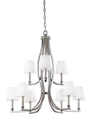 Murray Feiss F3118/9PN Pave Polished Nickel 9 - Light Chandelier