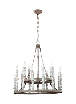 Murray Feiss F3143/24DFB/DWH 24 - Light Chandelier