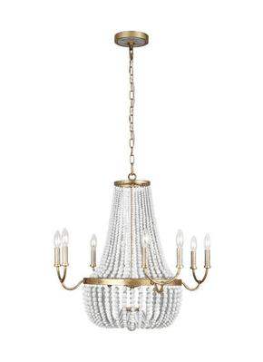 Murray Feiss F3280/8ADB Marielle Medium Chandelier Antique Gild