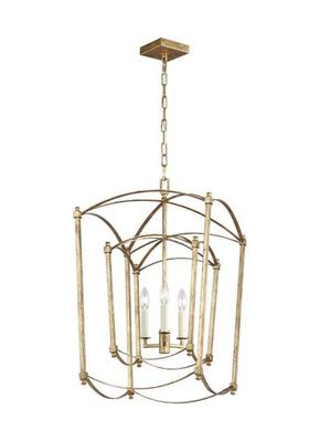 Murray Feiss F3327/3ADB Thayer 3 Light Double Lantern Chandelier - Antique Gild