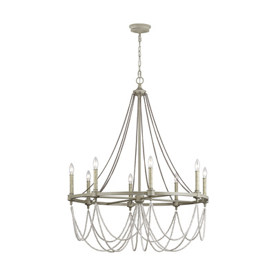 Murray Feiss F3332/8FWO/DWW Beverly Large Chandelier French Washed Oak / Distressed White Wood
