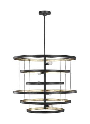 Murray Feiss F3340/5AI/ADB Celeste Medium Chandelier Aged Iron