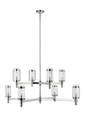 Murray Feiss LC1038PN Flynn by Ralph Lauren Large Polished Nickel Chandelier