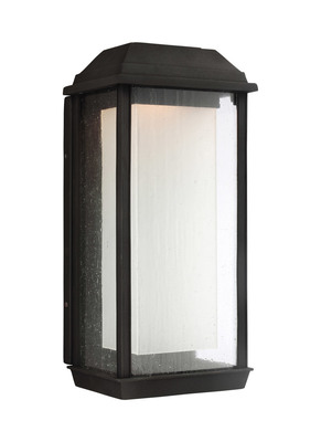 Murray Feiss OL12802TXB-L1 McHenry 1-Light Outdoor Wall Lantern - Textured Black - StoneStrong