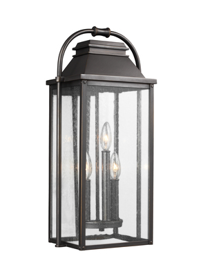Murray Feiss OL13201ANBZ Wellsworth 3 - Light Outdoor Wall Lantern Antique Bronze