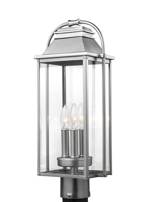 Murray Feiss OL13207PBS Wellswoth Painted Brushed Steel 1 Light Post Lantern