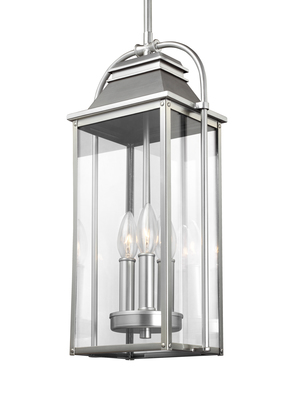 Murray Feiss OL13209PBS Wellsworth 3 Light Outdoor Pendant Lantern Painted Brushed Steel