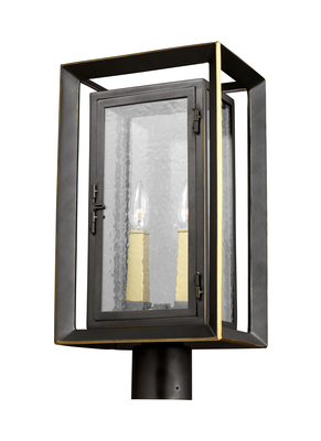 Murray Feiss OL13807ANBZ/PBB Urbandale 2 - Light Outdoor Post Lantern Antique Bronze / Painted Burnished Brass