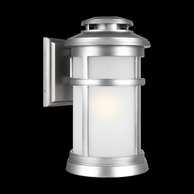 Murray Feiss OL14302PBS Newport Painted Brushed Steel 3 Light Wall Lantern - StoneStrong