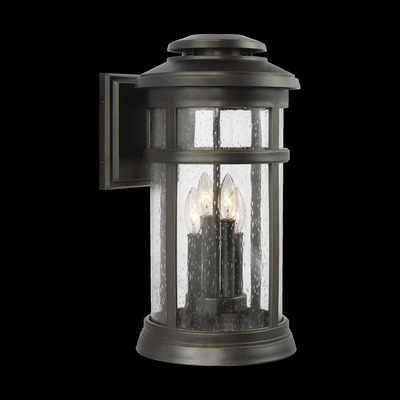 Murray Feiss OL14303ANBZ Newport Antique Bronze 4 - Light Wall Lantern - StoneStrong