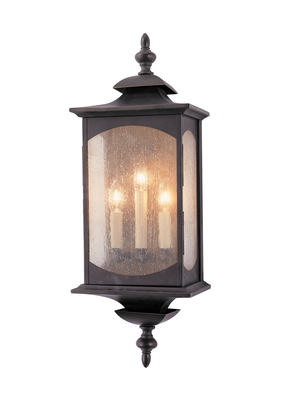 Murray Feiss OL2602ORB Market Square Large 3- Light Wall Lantern - Oil Rubbed Bronze