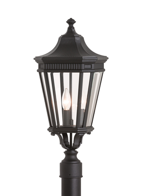 Murray Feiss OL5407BK Cotswold Lane 3 Light Pier Post Small Lantern - Black