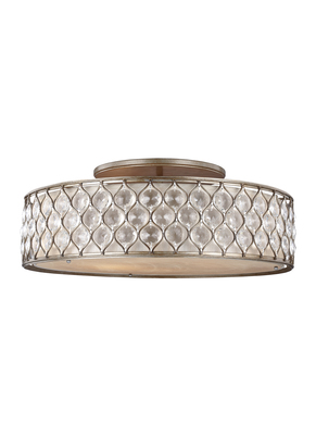 Murray Feiss SF329BUS Lucia Collection 6 - Light Semi-Flush Mount