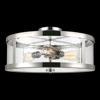 Murray Feiss SF342PN 3 Light Polished Nickel Semi Flushmount