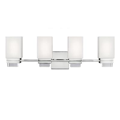 Murray Feiss VS20604PN Maddison 4-Light Bathroom Vanity Lighting, Polished Nickel