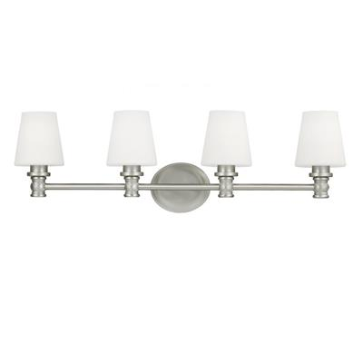 Murray Feiss VS22104SN Xavierre 4-Light Bathroom Vanity Lighting, Satin Nickel